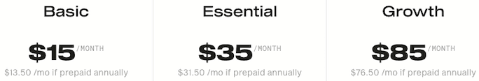 Simplecast pricing table