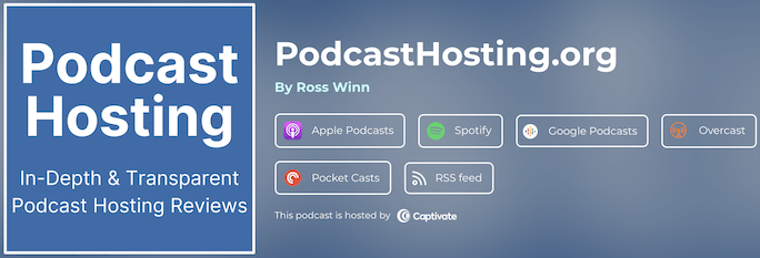 PodcastHosting.org Listen Page on Captivate