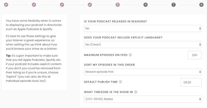 Captivate New Podcast Step 5: Random Settings